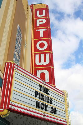 Photograph - The Uptown Theater In Napa California Wine Country 7d8978 by San Francisco
