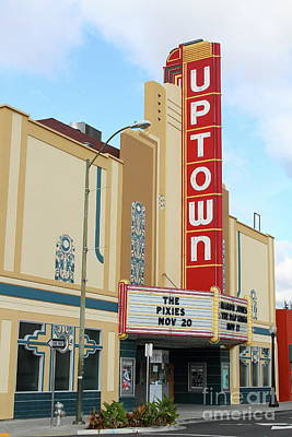 Photograph - The Uptown Theater In Napa California Wine Country 7d8981 by San Francisco