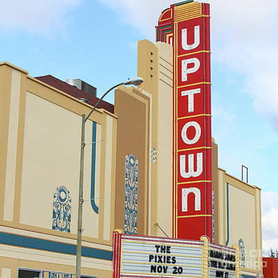 Photograph - The Uptown Theater In Napa California Wine Country 7d8981 Square by San Francisco