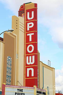Photograph - The Uptown Theater In Napa California Wine Country 7d8982 by San Francisco
