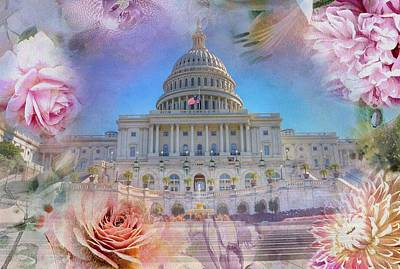 Photograph - The Us Capitol Building At Spring by Marianna Mills