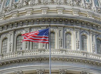 4th Of July Photograph - The Us Capitol Building - Washington D.c. by Marianna Mills