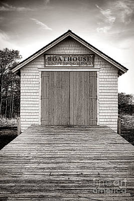 Boathouse Photograph - The U.s. Life Saving Service Boathouse by Olivier Le Queinec