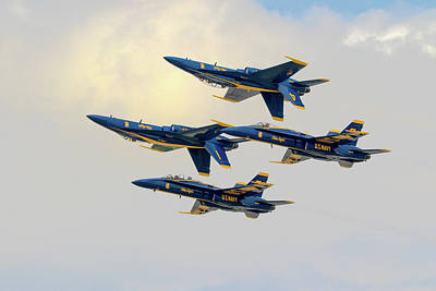 Photograph - The U.s. Navy Blue Angels by Brian Caldwell
