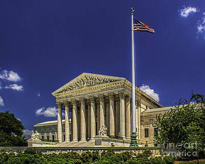 Photograph - The Us Supreme Court by Nick Zelinsky