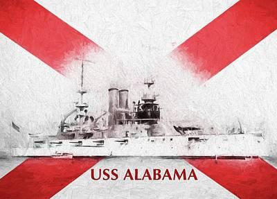 The Uss Alabama Bb-8 Art Print by JC Findley