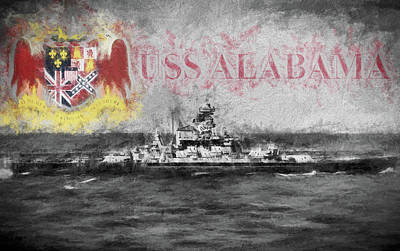 Digital Art - The Uss Alabama by JC Findley
