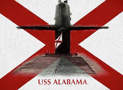 The Uss Alabama Nuclear Submarine Art Print by JC Findley