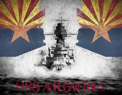 Digital Art - The Uss Arizona by JC Findley