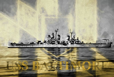 Md Digital Art - The Uss Baltimore by JC Findley