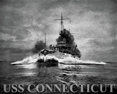Digital Art - The Uss Connecticut by JC Findley