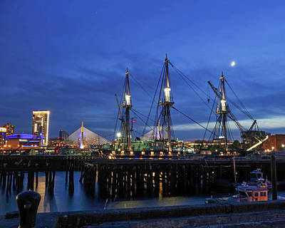 Photograph - The Uss Constitution Returns To The Water Charlestown Ma by Toby McGuire