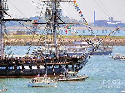 Photograph - The Uss Constitution by Scott Cameron