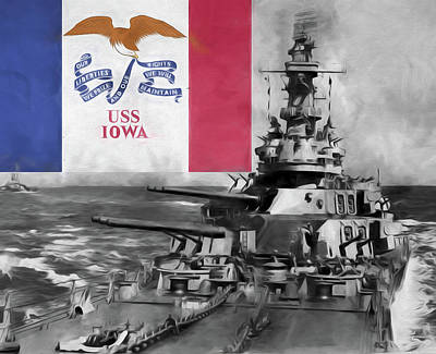 Battle Ship Photograph - The Uss Iowa by JC Findley