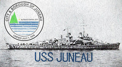 Digital Art - The Uss Juneau by JC Findley