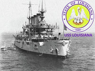 Digital Art - The Uss Louisiana by JC Findley