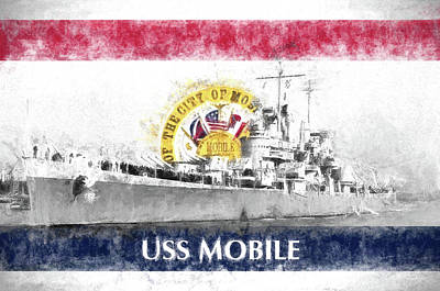 Photograph - The Uss Mobile by JC Findley