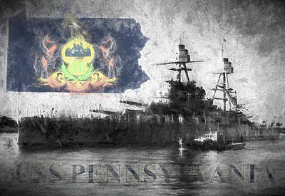 Digital Art - The Uss Pennsylvania by JC Findley