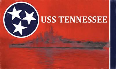 Ut Football Digital Art - The Uss Tennessee by JC Findley
