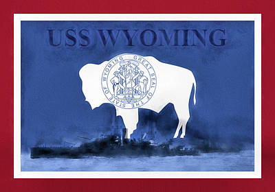 Digital Art - The Uss Wyoming by JC Findley