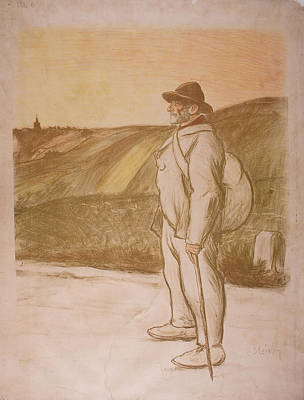 Steinlen Drawing - the Vagabond by Celestial Images