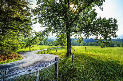 Photograph - The Valley At Cades Cove by Debra and Dave Vanderlaan