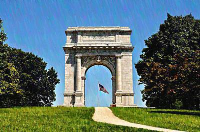 The Valley Forge Arch Art Print by Bill Cannon