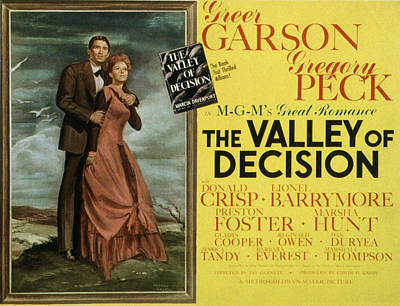Period Clothing Photograph - The Valley Of Decision, Gregory Peck by Everett