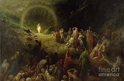 Crowd Painting - The Valley Of Tears by Gustave Dore