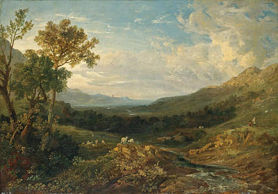 Painting - The Valley Of The Clyde by Anthony Vandyke Copley Fielding