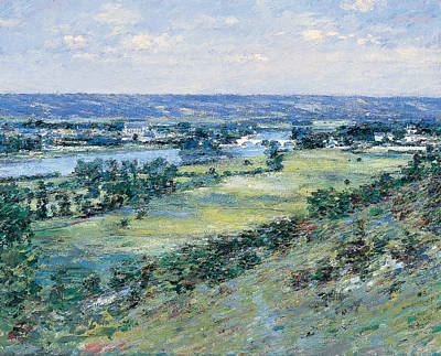 The Hills Painting - The Valley Of The Seine From The Hills Of Giverny by Theodore Robinson