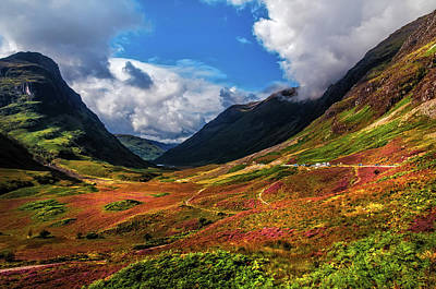 Jenny Rainbow Art Photograph - The Valley Of Three Sisters. Glencoe. Scotland by Jenny Rainbow