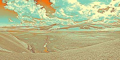 Scene Painting - The Valley Of Winding Snake River by Celestial Images