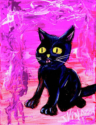 Painting - The Vampire Cat Baby Lestat by eVol i