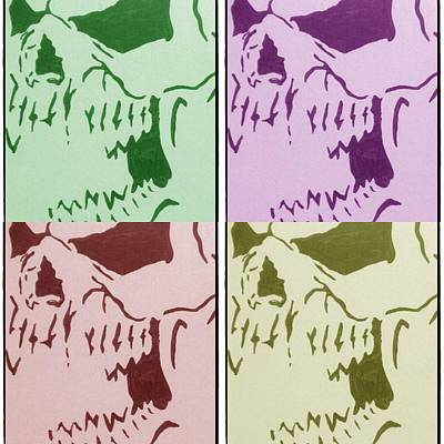 Stencil Of Elvis Drawing - The Vampire Skeleton by Robert Margetts