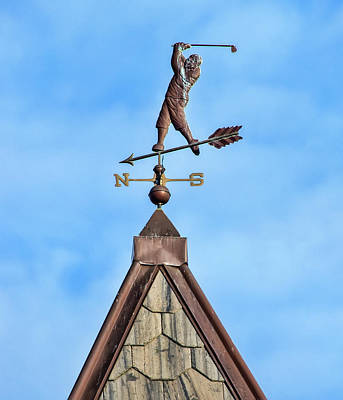 Photograph - The Vane Golfer by Gary Slawsky
