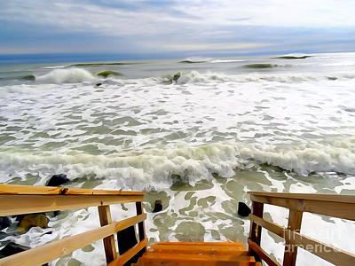 Digital Art - The Vanished Beach by Ed Weidman