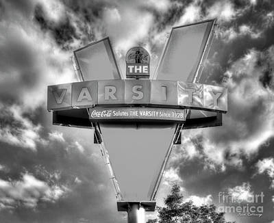 Photograph - The Varsity Classic Atlanta Landmark Signage Art by Reid Callaway