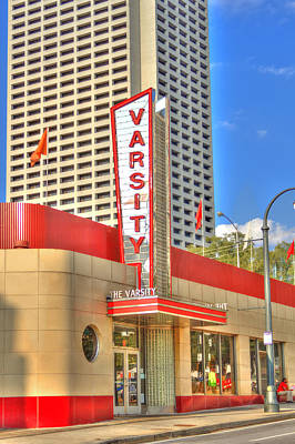 Photograph - The Varsity Frontdoor Atlanta Georgia Landmark Art by Reid Callaway