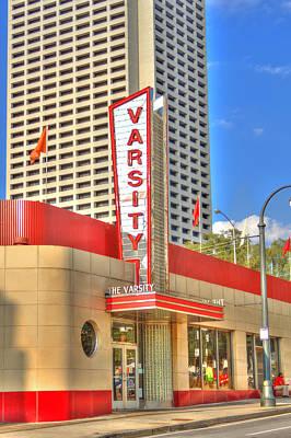 Photograph - The Varsity Frontdoor Atlanta Georgia Landmark Art by Reid Callaway