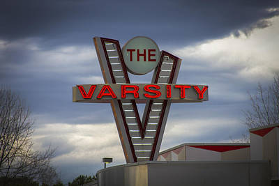 Photograph - The Varsity Sign Kennesaw Georgia by Reid Callaway