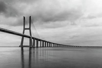 The Vasco Da Gama Bridge Lisbon Art Print by Christopher Cosgrove