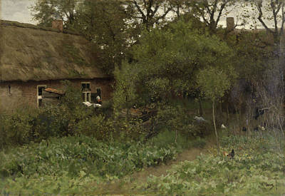 Veggies Painting - The Vegetable Garden by Anton Mauve