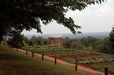 The Vegetable Garden At Monticello Art Print