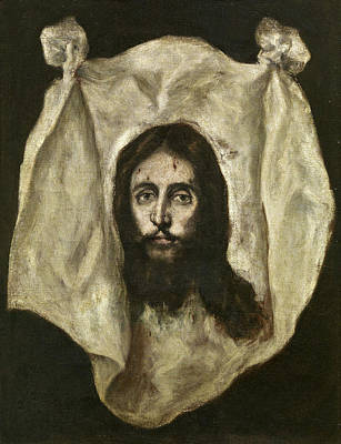 Saint Painting - The Veil Of Saint Veronica by El Greco