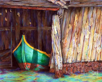 The Venetian Boathouse Art Print by Winona Steunenberg
