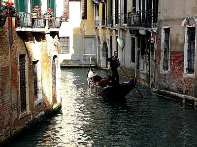 Photograph - The Venetian Gondolier by Diane Height