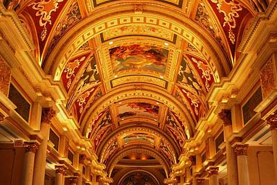 Photograph - The Venetian Hall In Las Vegas by Matt Harang