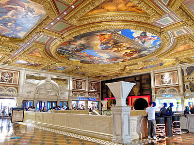 Pop Art Rights Managed Images - The Venetian Hotel Lobby Royalty-Free Image by Julie Niemela