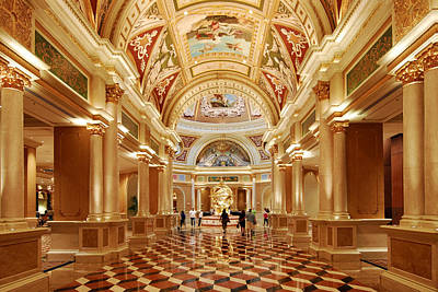 Photograph - The Venetian Hotel Lobby  Las Vegas by Willie Harper